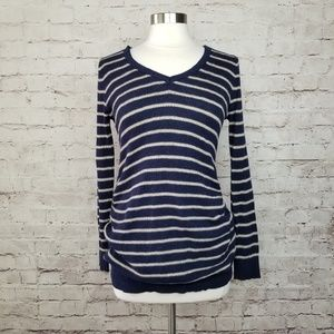 Motherhood Maternity Striped Waffle Knit Sweater